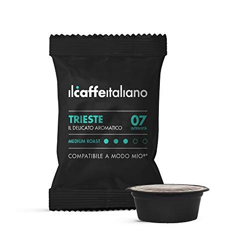 Il Caffè Italiano 100 Kaffeekapseln mit dem Lavazza A Modo Mio System kombpatible - Mischung Trieste, Intensität 7