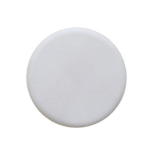 Levoberg Hocker Bezug Schutzbezug für Rundhocker aus Kunstleder rund Bar Bezug Sitz Kissen Weiß Durchmesser 35cm