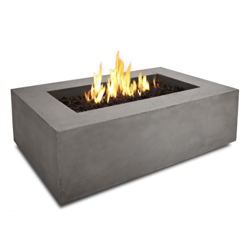 Baltic Rectangle Natural Gas Backyard Fire Pit by Real Flame