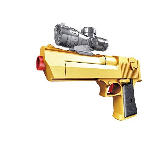 JINGYD Golden Desert Eagle Juguete de Espuma Orbeez Pistola Pistola de Doble Uso +10000 Crystal Bullet