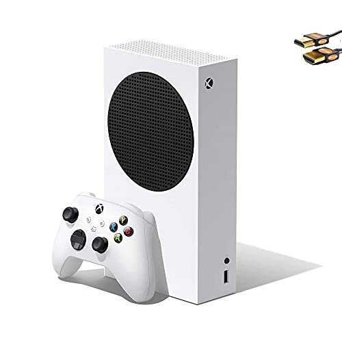 Microsoft Xbox Series S 512GB SSD All-Digital Console with Wireless Controller, 3D Spatial Sound, HDR(High Dynamic Range), 1440p Gaming Resolution, AMD FreeSync, WiFi (White) + HDMI Cable (Renewed)
