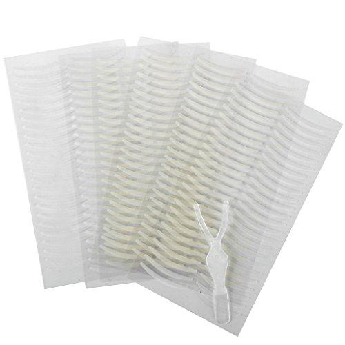 Summerwindy 144 pares Calcomanias tiras cintas de papel Pegatinas de delineador de parpado doble invisible Maquillaje de ojo