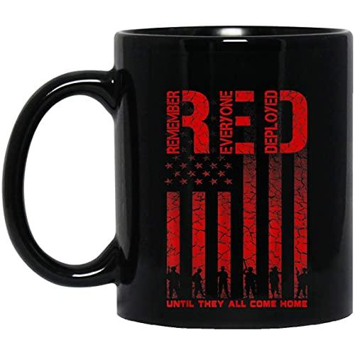 N\A Taza Día de los Veteranos de los Veteranos Militares del Viernes Rojo