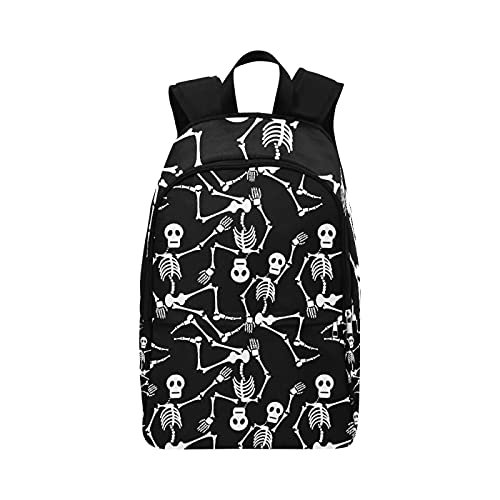 Neceser de Viaje Negro Blanco Dead Dance Skeletons Papel Pintado Durable Resistente al Agua Bolsas Deportivas clásicas Bolsas de baño para Senderismo Bolsas de Regalo para la escue