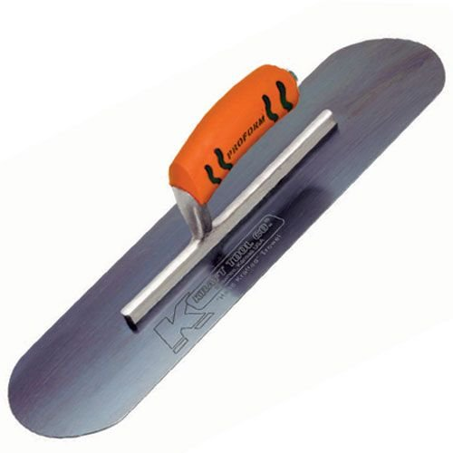 Kraft Tool CF295BPF Blue Steel Pool Trowel with ProForm Handle, 20 x 5-Inch,Multi