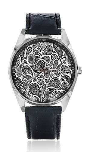 Tumblr Aztec - Reloj de Pulsera para Hombre, Correa de Piel, Estilo clásico, diseño Simple y a la Moda