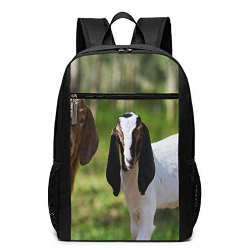 School Backpack Goat 18, College Book Bag Business Travel Daypack Casual Rucksack for Man Women Teenagers Girl Boy