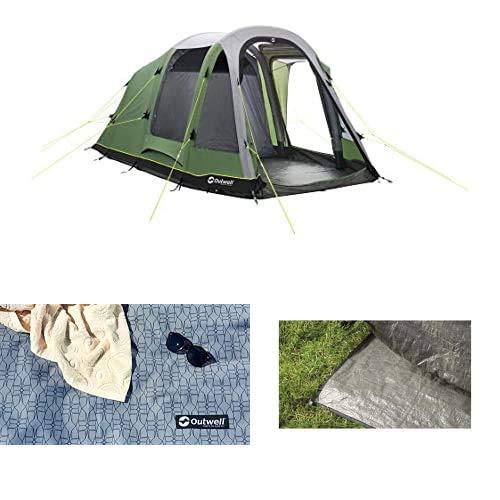 Outwell Reddick 5A Air tent, Green, 5-Person + Footprint + carpet
