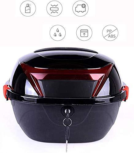 Vespa Top Case, Motocicleta Top Box anti-colisión resistente al desgaste fuerte soporte de cargas, Caja posterior de la moto por equipaje almacenaje del casco, Color: Plata Prohibido fumar tronco port