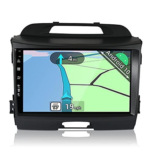YUNTX Android 10 Autoradio adatto per Kia Sportage (2010-2015)- GPS 2 Din - 2G+32G - 9 pollice TouchScreen- Supporta DAB / Controllo del Volante / BT 5.0 / WiFi / 4G / CarPlay / USB / Mirrorlink