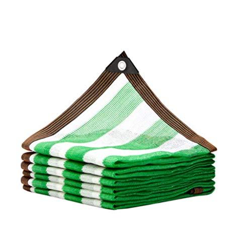 ALWUDI Verde Malla Resistente De ProteccióN Solar, Lona de la Sombra con Ojales, Techo de jardín, balcón, Aislamiento térmico de automóviles 85% Bloqueo UV Velas de Sombra,4x6m
