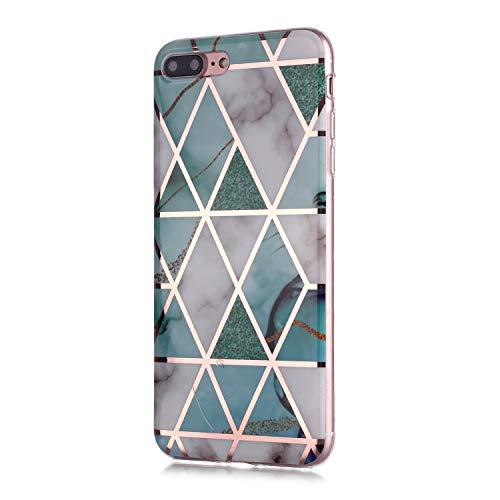 6City8Ni Colorful Bling Totem für iPhone 8 Plus iPhone 7 Plus,Kristal Klar Durchsichtige Transparent Crystal Clear Diamond Sparkle Glitter Soft Ultra Dünn Guter Bumper Silikon Gel TPU Gummi Hülle