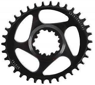 Denret3rgu 96BCD MTB Mountain Bike Plaquetas Oval Plato de biela Juego de bielas Negro 36T*