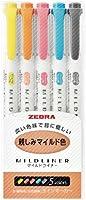 Zebra Highlighter Mildliner, 5 Friendly Color Set (WKT7-N-5C)