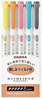 Zebra MILDLINER WKT7-5C (5-färguppsättning) / WKT7-5C-RC (5-färguppsättning) / WKT7-5C-NC (5-färgsset) / WKT7-N-5C (5-färg...