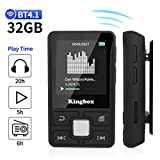 Mp3 Player with Clip, Kingbox X55 32GB Music Player with BT 4.1,Support FM