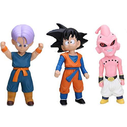 CXNY 11-22cm Dragon Ball z Figuras Oolong Goku Pilaf Trunks buu Chiaotzu Cat Karin Mr. Popo Figura de accion ninos PVC Modelo de Juguete 7pcs / set-3pcs / Set