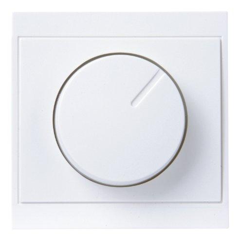 Kopp 312313186 Abdeckung Druck-Wechsel-Dimmer UP-Serie Malta, arktis-weiß