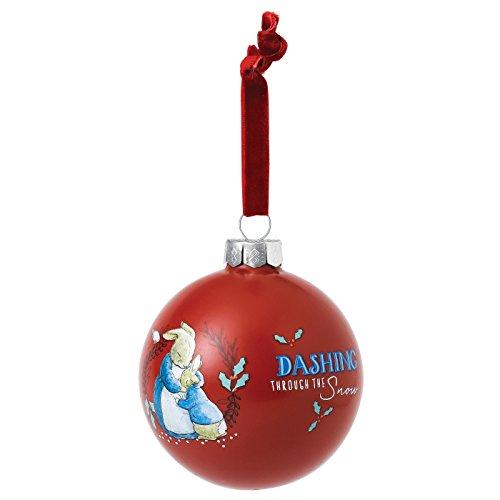 Beatrix Potter Boule de Noël Motif Lapin et Peter