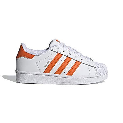 adidas Originals Superstar Shoes - Zapatillas Unisex para niños pequeños, Color Blanco, Azul y Dorado