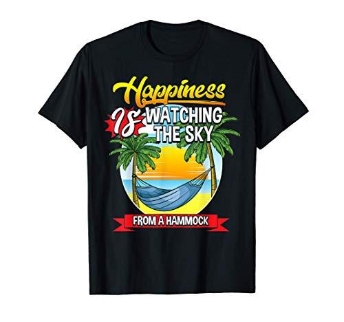 Hamaca mirando el cielo de la felicidad Camiseta