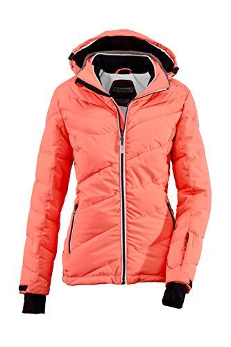Killtec Damen Ocisa Skijacke In Daunenoptik Mit Abzippbarer Kapuze Und Schneefang, 10.000 Mm Wassersäule, Erdbeere, 46