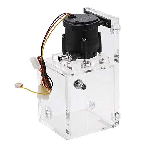 Tonysa Geïntegreerde 890 ML PC waterkoelpomp + 1200L / H acryl waterkoeler, pomplichaam waterpomp tank met handmatige instelknop/grote capaciteit voor PC waterkoeling