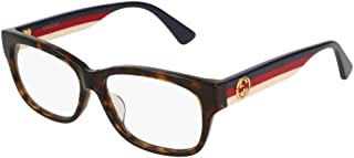 Gucci GG0278OA Asian Fit Classic Rectangular Eyeglasses 55mm