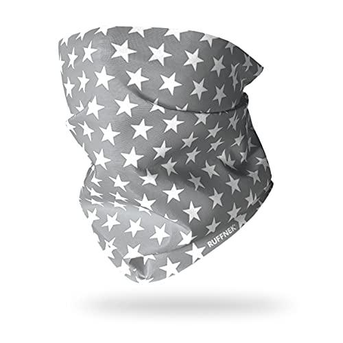 Ruffnek Gris Étoile Cache-Cou Bandana Multifonction Foulard - Taille Unique - pour Hommes, femmes, enfants et chiens de taille moyenne !
