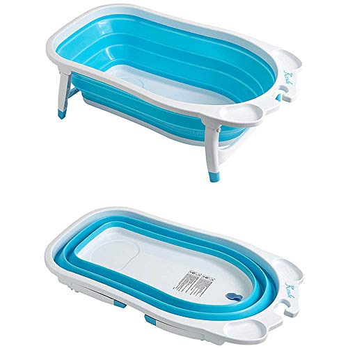 Roger Armstrong Flat Fold Bath Tub, Blue