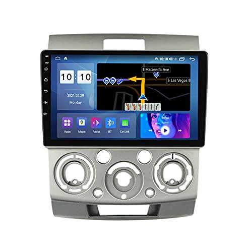 ADMLZQQ Android 10.0 In-Dash Car Stereo Radio para Ford Ranger 2006-2011 / Ford Focus/Mazda BT-50, Pantalla Táctil 9 Pulgadas Bluetooth Carplay GPS FM Am RDS Cámara Trasera,A,M500S 8Core 4+64G