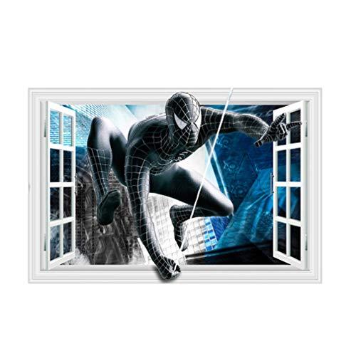 Spiderman in zwart pak raam muurstickers