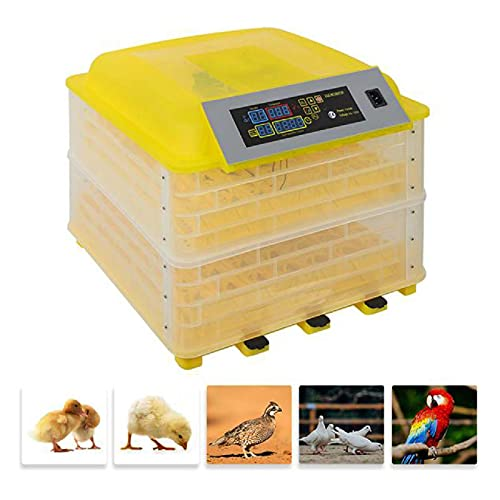 GetLoveToy Digital Egg Incubator, 112 Egg Incubator Hatcher Automatic Egg Poultry Incubator with Turning Temperature Control for Hatching Chicken Duck, Stable and Save Energy