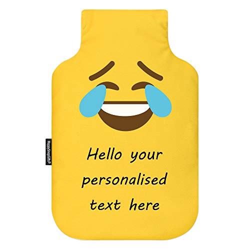 Botella de agua caliente personalizada con funda extraíble de diseño Emoji con botella de 2 litros gratis