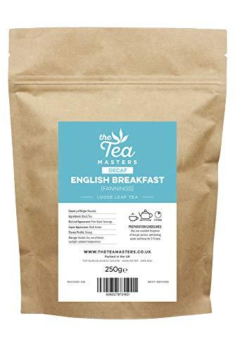 The Tea Masters Lose Blätter koffeinfreier Frühstückstee (Fannings/fein gemahlen) 250g