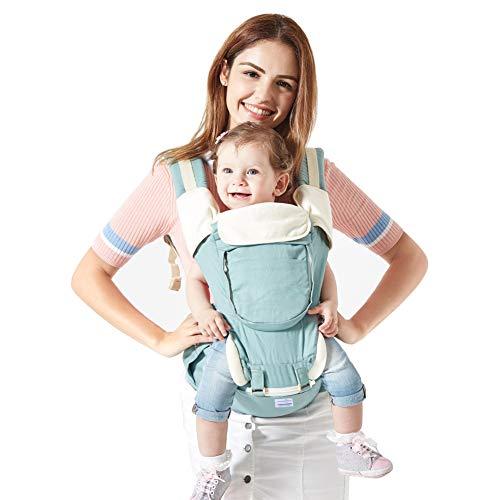 Babytrage Bauchtrage,Mondeer 9 in 1 Baby Hocker Schulter für alle Saisons, Geeignet für Baby ab 3-36 Monate, spezelles ergonomisches Design für Babys