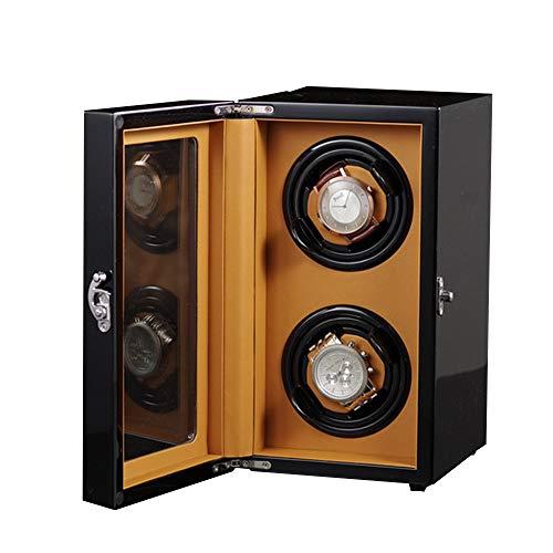 N\C xikuo Watch Winder, con Capacidad For 2 Relojes Automáticos, Ultra Silencioso Motor Anti-magnético, con Suave Y Flexible Tabla Almohadas, Tamaño 150 * 190 * 270MM