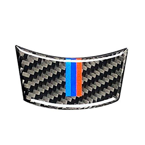 wufeng Für BMW 2004-2010 5er E60 Lenkrad Carbon-Faser-M-Streifen Auto Lenkradbezug Trim-Innendekor-Aufkleber Zubehör