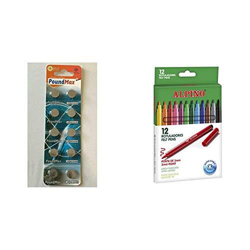 PoundMax® 10 Pilas de botón alcalinas AG13 LR44 1,5 V + Alpino...
