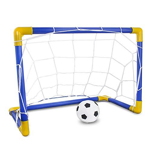 ihen-Tech Enfants Sports Buts De Football avec Ballon De Foot Et Pompe en Plein Air Pratique Jeu De Scrimmage Porte De Football Amovible 1 Set
