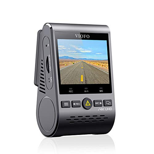 VIOFO A129 Pro 4K Dash Cam 3840x2160P Ultra HD 4K Dash Camera Sony 8MP Sensor GPS Wi-Fi, Buffered Parking Mode, G-Sensor, Motion Detection, WDR, Loop Recording