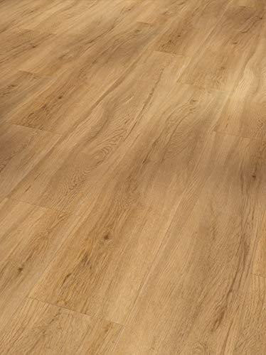 Parador Vinyl Basic 5.3 - Vinylboden Eiche Sierra Natur - Hochwertiger, elastischer Bodenbelag in Holz-Optik, leise und komfortabel mit Klick-Verlegung - mit V-Fuge