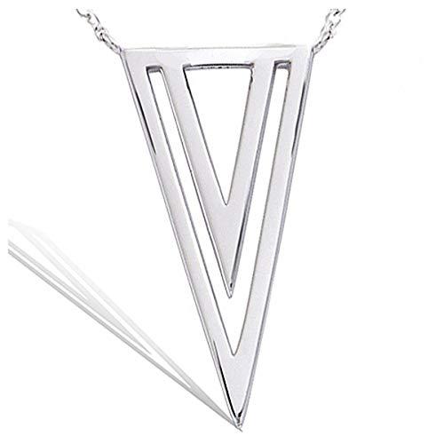 Les Trésors de Lily Q1086 - Collar Plata 'Cléopatra' Plateado (rodiado)- 30x15 mm.