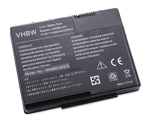 vhbw Batterie Compatible avec HP Pavilion ZT3000, zt3010us, zt3000 (CTO) (DL811AV), zt3000 (CTO) (DL812AV) Laptop (4400mAh, 14,8V, Li-ION)