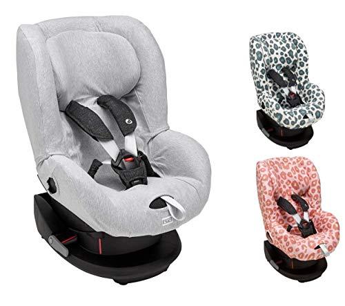 Meyco Baby ** Funda universal acogedora, 100% algodón transpirable, sistema de cinturón de 3 y 5 puntos * Maxi Cosi TOBI + Maxi Cosi Pearl, Römer King Plus, etc. (Lines gris).