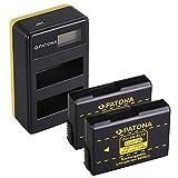 PATONA Cargador Doble LCD USB con 2X EN-EL14 Batería Compatible con Nikon Coolpix P7100, P7700, P7800, D5600, D3400, DF