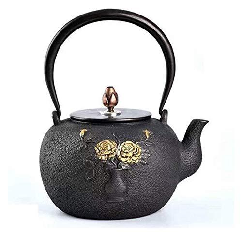 Glass teapot Kettle Cast Iron Teapot Style Cast Iron Teapot Pure Hand Iron Pot Teapot Vase 1.5L Tetsubin tea set
