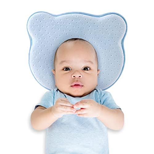 Coussin de bébé Oreiller bébé Coussin pour bébé Nouveau-né Coussin de Coussin en Forme de Contre Le Coussin de bébé Peluche plagiozephaly Coussin de Stockage thérapeutique pour bébés Coussins, Bleu