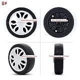 Sweo - Ruedas giratorias de plástico para maletas, ruedas giratorias