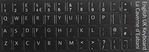 La Castne d'Eabani® Engelse toetsenbord QWERTY UK sticker 11 mm x 13 mm letters